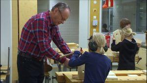 Skolmorfar Christian Nylund vid Vasa Övningsskola