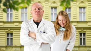 Tandläkare Mannström, sköterskan Sanna