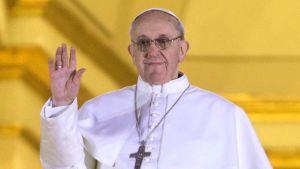 Den nyvalde påven vinkade till folket
