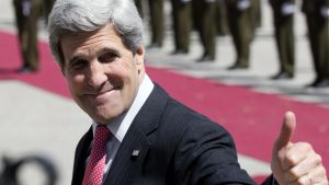 John Kerry besökte Västbanken 21.03.2013
