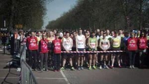 Tyst minut inför London maraton