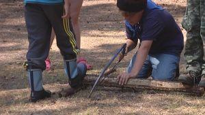 Scouter på läger i Pyttis