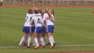 Finlands U19-damer (95-födda), hösten 2013