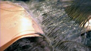 Väriä hiuksissa