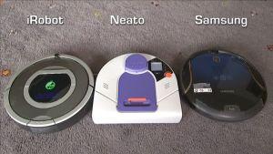 Robotti-imurit iRobot, Neato ja Samsung matolla