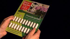 Provado-puikkoja pakkauksessa.