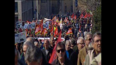 En demonstration i Frankrike