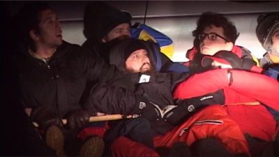Demonstration mot utvisning av irakiska flyktingar i Stockholm januari 2011