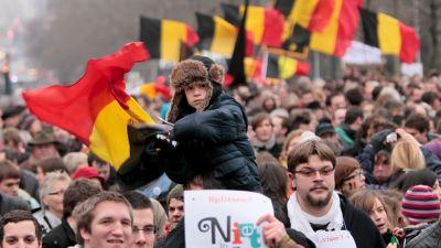 Demonstration i Belgien 23.1.2011