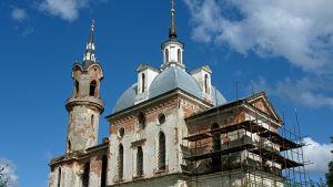 Kirkkoa peruskorjataan Venäjällä