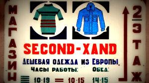 Second hand - kyltti venäjäksi