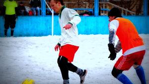 Jalkapalloa Venäjällä talvella