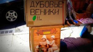 Saunavihtoja myynnissä Venäjällä