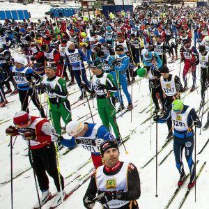 Starten vid Vasaloppet 2014.