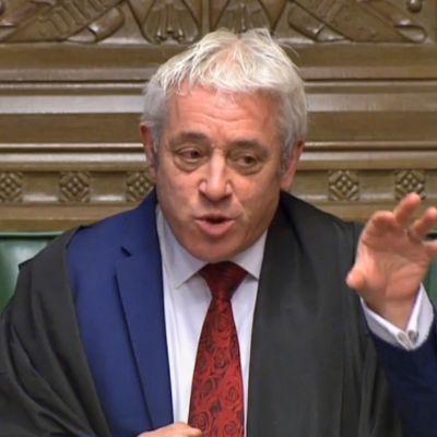 John Bercow, underhusets talman 19.10.2019