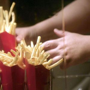Pommes frites på McDonalds