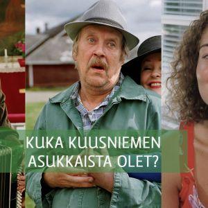 Maalaiskomedia-sarjan hahmoja.