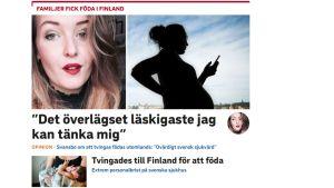 Skärmdump från Svt.se.