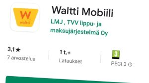Waltti Mobiilo Googlen Play-kaupassa.