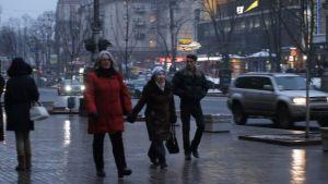 Kerstin Kronvall på promenad i Kiev.