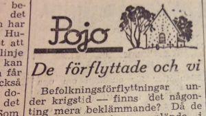 Artikel i tidningen Västra Nyland från den 31 augusti 1944.