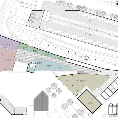 Plan 3, affärskomplexet