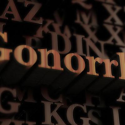 gonorre animerat som en text