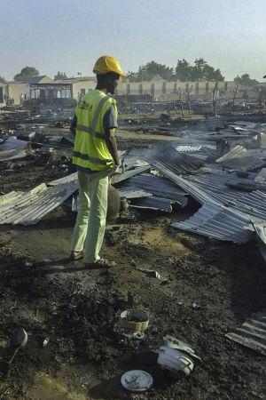 Boko Haram har ofta utfört terrordåd i Maiduguri- Det här flyktinglägret i staden angreps av fem självmordsbombare i fjol