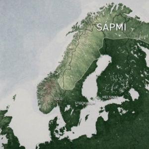 Karta över Sápmi.