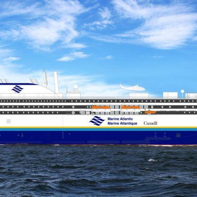 Deltamarinin suunnittelema alus Kanadaan