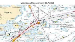 MOTORBÅTAR KOLLIDERADE UTANFÖR NAGU 29.7.2018