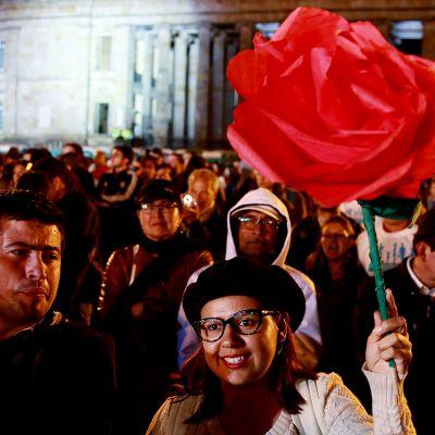 Bogotassa pidettiin FARC -puolueen perustamisjuhla juhla 1. syyskuuta.