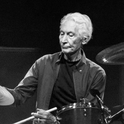 Charlie Watts, trummisen i det legendariska rockbandet The Rolling Stones, fotograferad på scen år 2019 under ett av bandets gig i Texas.