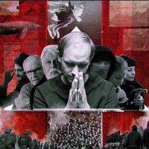 Grafikplansch med Peter Kolmispooi i mitten för tv-serien Aktivisten.