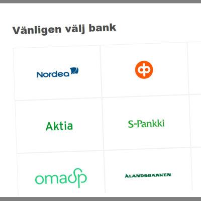 Identifiering via olika internetbanker.