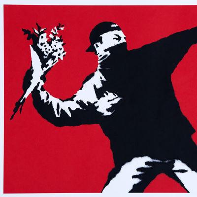 Banksy, Love Is in the Air, 2003