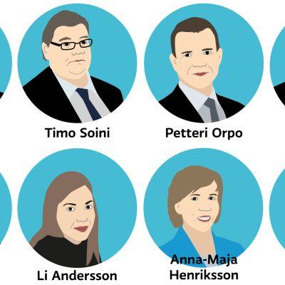 Puoluejohtajat