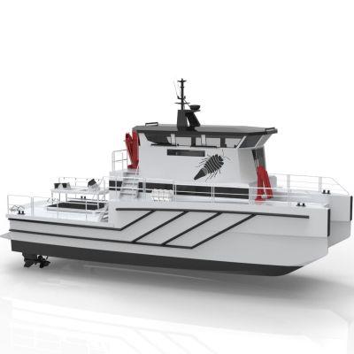 Den nya forskningsbåten som Tvärminne zoologiska station beställt från Karleby.