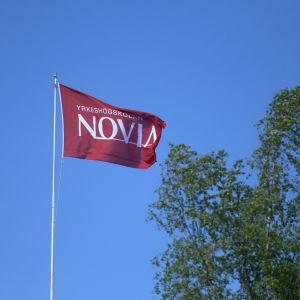 Novias flagga på Brändö i Vasa.