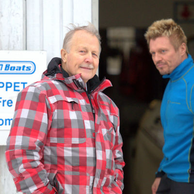 Båtföretagaren Henrik Jåfs och hans son Peter Jåfs, medlem i företagets styrelse.