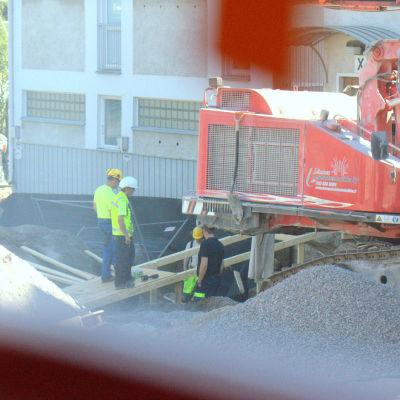Utsikten från fönstret vid Sandvikens hälsostation.