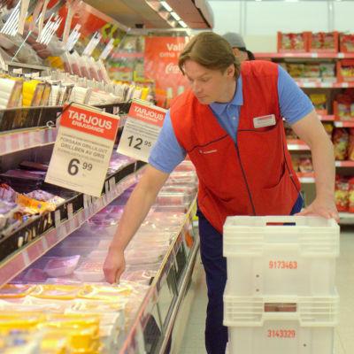 Tom Hautakangas, köpman på Citymarket i Stenhaga i Vasa.