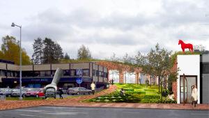 Studio Puiston suunnitelma Kankaanpäähän.
