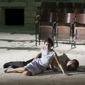 Kohtaus Willibald Gluckin oopperasta Orfeus ja Eurydike. Lyonin ooppera 2015