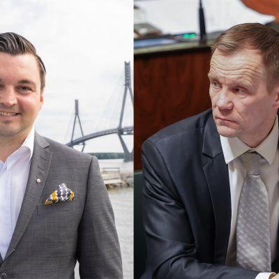 Joakim Strand (r.) ja Mika Niikko (ps.).