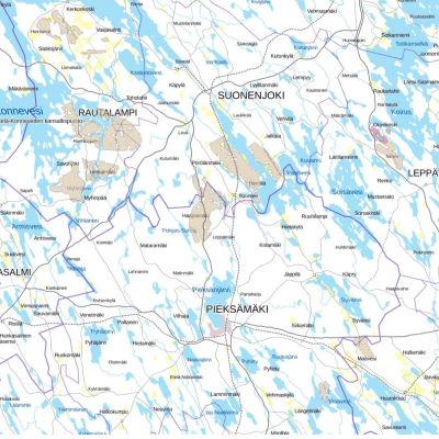 Tukesin kartta malminetsintäalueista