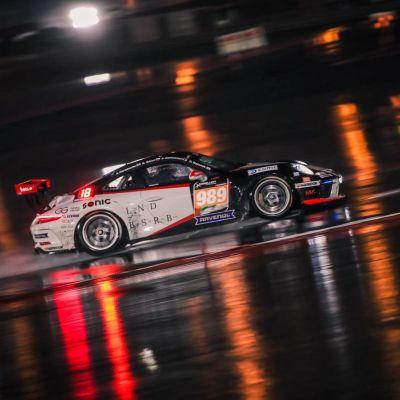 Jukka Honkavuori ajaa Porschella Dubain Hankook 24h -kisassa tammikuussa 2020.