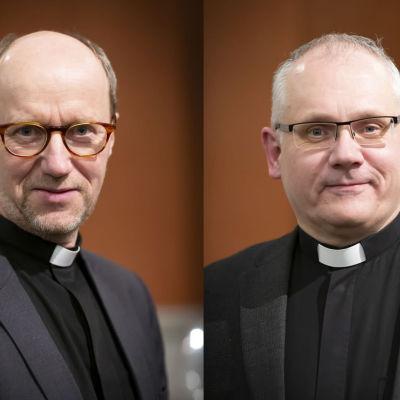 Två män i prästkrage. De heter Sixten Ekstrand och Bo-Göran Åstrand.