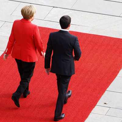 Angela Merkel och Manuel Valls