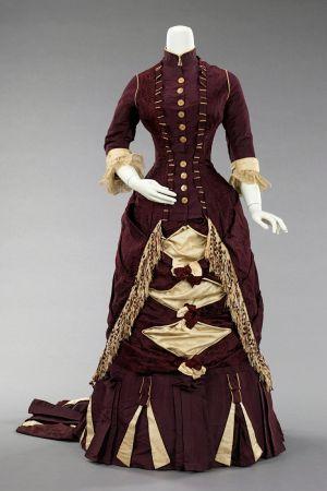 Amerikkalainen illtapuku 1880-luvulta